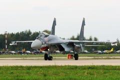 Militärkämpfer Su-27 lizenzfreies stockbild
