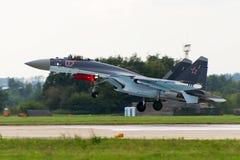 Militärkämpfer Su-27 stockbild