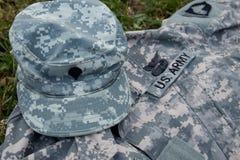 Militärkappe und Uniform Lizenzfreies Stockbild