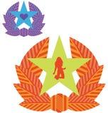 Militärliebe Badges Serie Stockfoto