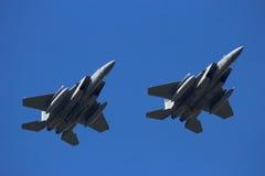 Militärluftwaffenkampfflugzeugflugzeuge Stockfotos