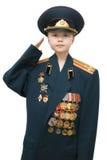 Militärmädchen stockfoto