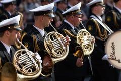 Militärorchester Stockbild