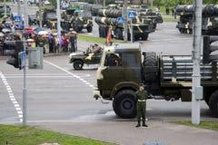Militärparade. Stockbild