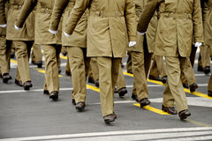 Militärparade Stockfotografie