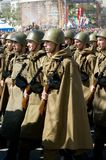 Militärparade stockfotos