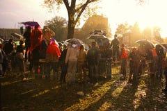Militärparade in BELGRAD Lizenzfreie Stockfotos