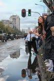 Militärparade in BELGRAD Stockfotografie