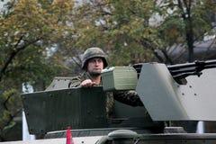 Militärparade in BELGRAD Stockbild