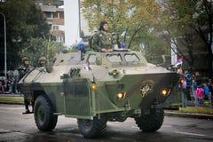 Militärparade in BELGRAD Stockbilder