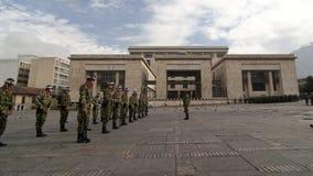 Militärparade in Bogota, Kolumbien Stockfotografie