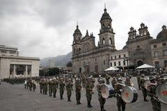 Militärparade in Bogota, Kolumbien lizenzfreies stockfoto