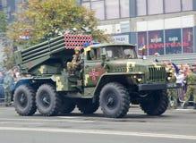 Militärparade in der ukrainischen Hauptstadt Lizenzfreie Stockfotografie