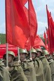 Militärparade des Sieg-Tages Stockbilder
