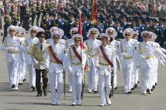 Militärparade des Sieg-Tages Lizenzfreies Stockfoto