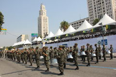 Militärparade des Unabhängigkeitstags in Rio, Brasilien Lizenzfreies Stockfoto