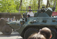 Militärparade für den 70. Jahrestag des Sieges vorbei fas Stockfotografie