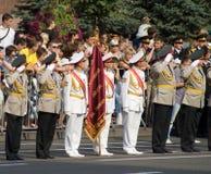 Militärparade in Kiew Stockbild