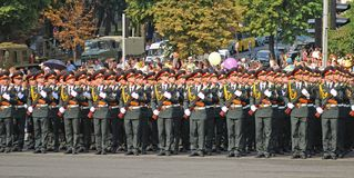 Militärparade in Kiew Stockfotos