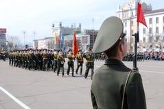 Militärparade, Russland stockbild