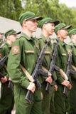 Militärparade am Tag des Eides, Ränge von Soldaten Lizenzfreie Stockbilder
