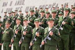 Militärparade am Tag des Eides, Ränge von Soldaten Stockbilder
