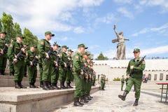 Militärparade am Tag des Eides, Ränge von Soldaten Stockbild