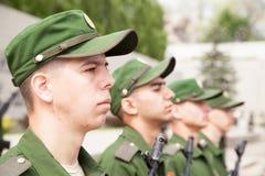 Militärparade am Tag des Eides, Ränge von Soldaten Lizenzfreies Stockbild