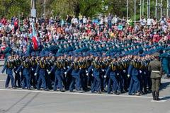 Militärparade während der Feier des Siegtages Lizenzfreies Stockbild