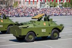 Militärparade während der Feier des Siegtages Stockfotos