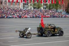 Militärparade während der Feier des Siegtages Lizenzfreies Stockfoto