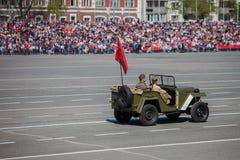 Militärparade während der Feier des Siegtages Lizenzfreie Stockfotografie