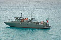 MilitärPatrouillenboot in der grauen Farbe Stockfoto