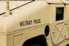 Militärpolizei Humvee stockfoto