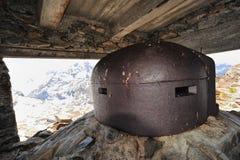 Militärposten auf dem Malamot Fort Stockfoto