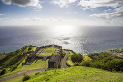 Militärposten in Brimstone-Festung, St. Kitts und Nevis lizenzfreie stockfotos