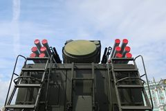 Militärraketen Stockbild