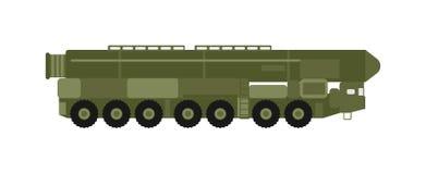 Militärraketenwerfervektorillustration Lizenzfreie Stockfotografie