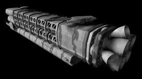 Militärraumstation Stockfotografie