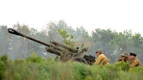 Militärrekonstruktion stock video footage