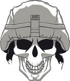 Militärschädel Lizenzfreie Stockfotos