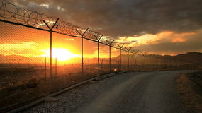 Militärstützpunkt Afghanistan stockfotografie