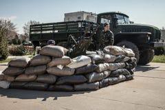 Militärstützpunkt Belbek? 4515 in Krim, Ukraine Lizenzfreies Stockfoto