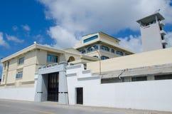 Militärstützpunkt am Mann maldives Stockbild