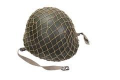 Militärsturzhelm der AMERIKANISCHEN Armee Lizenzfreies Stockfoto