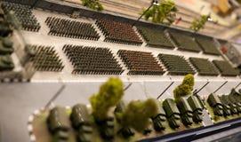 Militärt bildande för leksaksoldater ståtar Fotografering för Bildbyråer