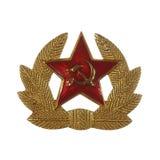 Militärt emblem från före detta Sovjetunionen som isoleras på vita lodisar Royaltyfri Fotografi