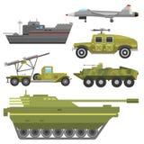 Militärt försvar för harnesk för teknik för bransch för stridighet för transport för teknikarmékrig stock illustrationer