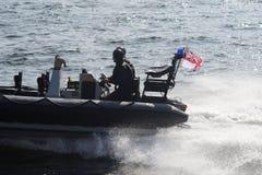 Militärt fartyg Arkivfoto