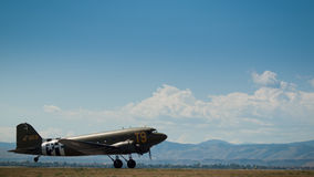 Militärt flygplan Arkivfoton
